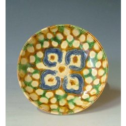 Tang Dynasty Tri-colored Pottery Dish
