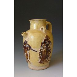 Tang Dynasty Changsha Kiln Yellow Glaze Pottery Vine Pot