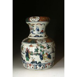 Ming Dynasty JiaJing Reign Five-colored Porcelain Vase with boys pattern