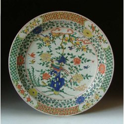 Qing Dynasty KangXi Imperial Ware Five-colored Porcelain Plate