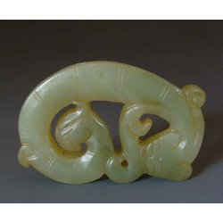 Spring&Autumn Period Carved Jade Coiled Dragon