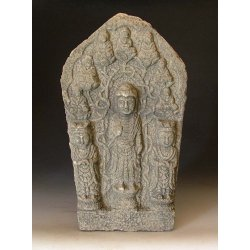 Northern Wei Dynasty Carved Stone Buddha Statue