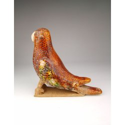 Tang Dynasty Tri-colored Pottery Parrot Statue