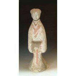 Han Dynasty Painted Gray-pottery Royal Attendant