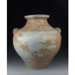 Yuan Dynasty Egg White Glazed Porcelain Pot With Incised Phoenix Pattern