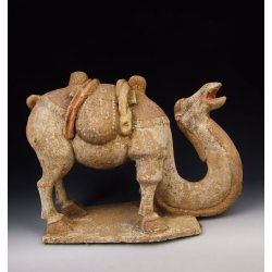 Tang Dynasty Painted Pottery Camel Statue