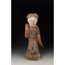Han Dynasty Painted Gray-Pottery Royal Dancer