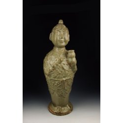 Song Dynasty Yaozhou Ware Porcelain Chinese Medicine God Sun Simiao Statue