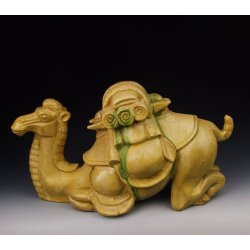 Tang Dynasty Tri-colored Pottery Camel