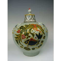 Yuan Dynasty Early - Fahua Coloring Egg White Glazed Porcelain Lidded Plum Vase with Fish and Waterweed pattern