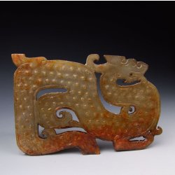 One Carved Jade Pei ornament with pattern from Spring & Autumn Period
