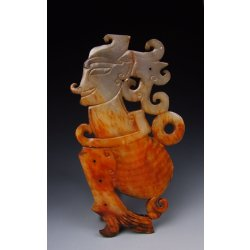 One Jade Carving Human-shaped Funeral Object from Spring & Autumn Period