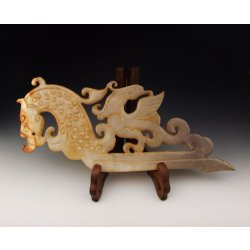 One Dragon&Phoenix Jade Carving from Spring&Autumn Period