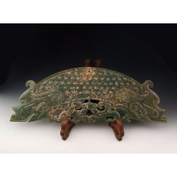 One Dragon shaped Jade Carving from Spring&Autumn Period