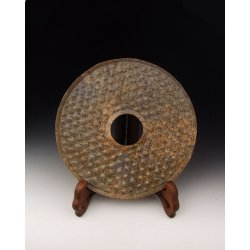 One Carved Jade Bi Disk from Spring&Autumn Period