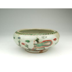 One Five-Colored Decoration Porcelain Brush Washer with dragon pattern Ming Dynasty