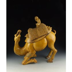 One Yellow-Glaze Pottery Camel Statue Tang Dynasty