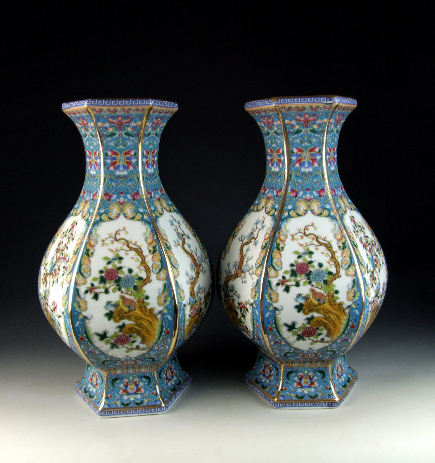 Chinese antique pair of enamel ware color porcelain vases with image is loading chinese antique pair of enamel ware color porcelain reviewsmspy