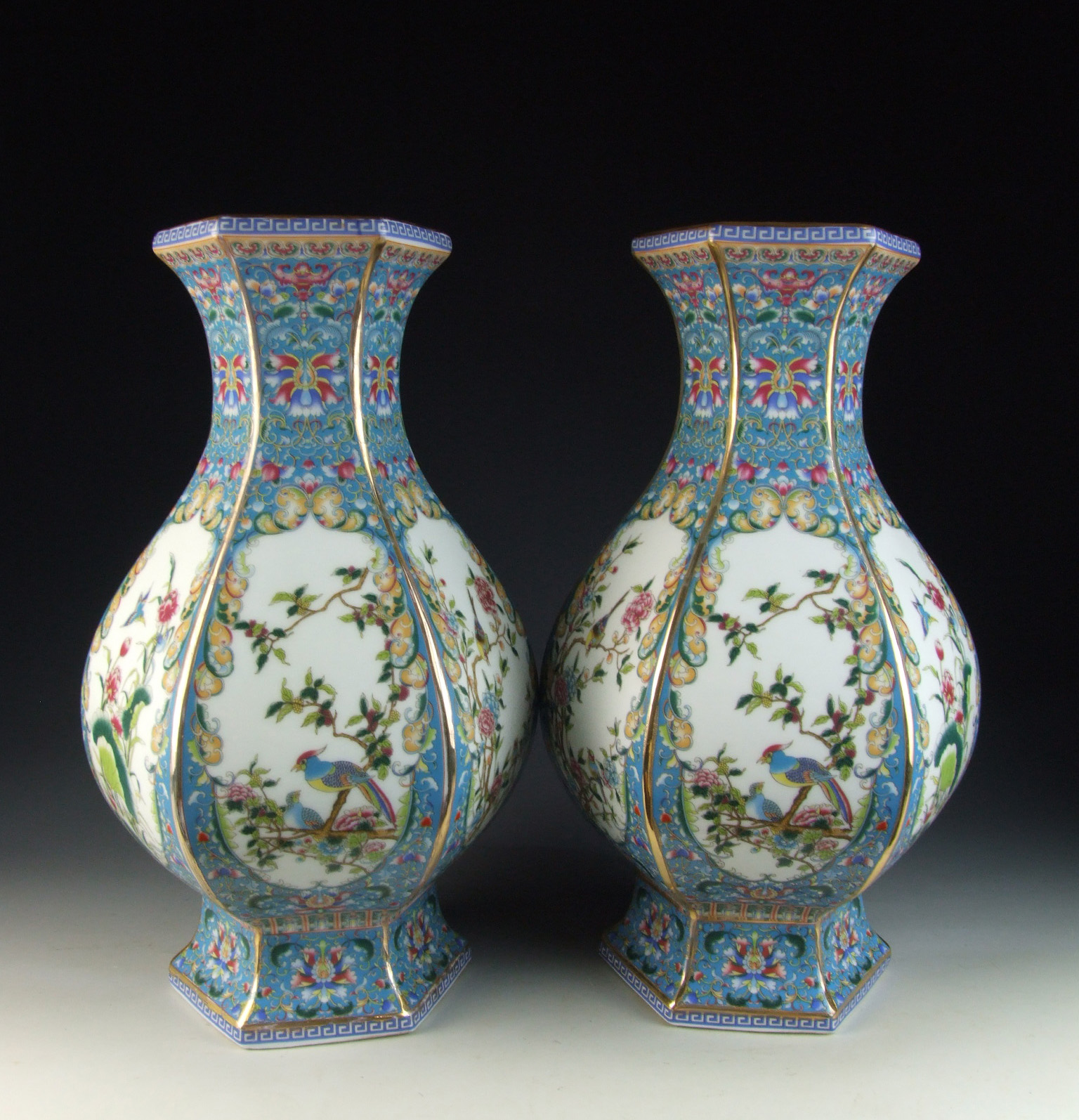 Chinese antique pair of enamel ware color porcelain vases with chinese antique pair of enamel ware color porcelain reviewsmspy