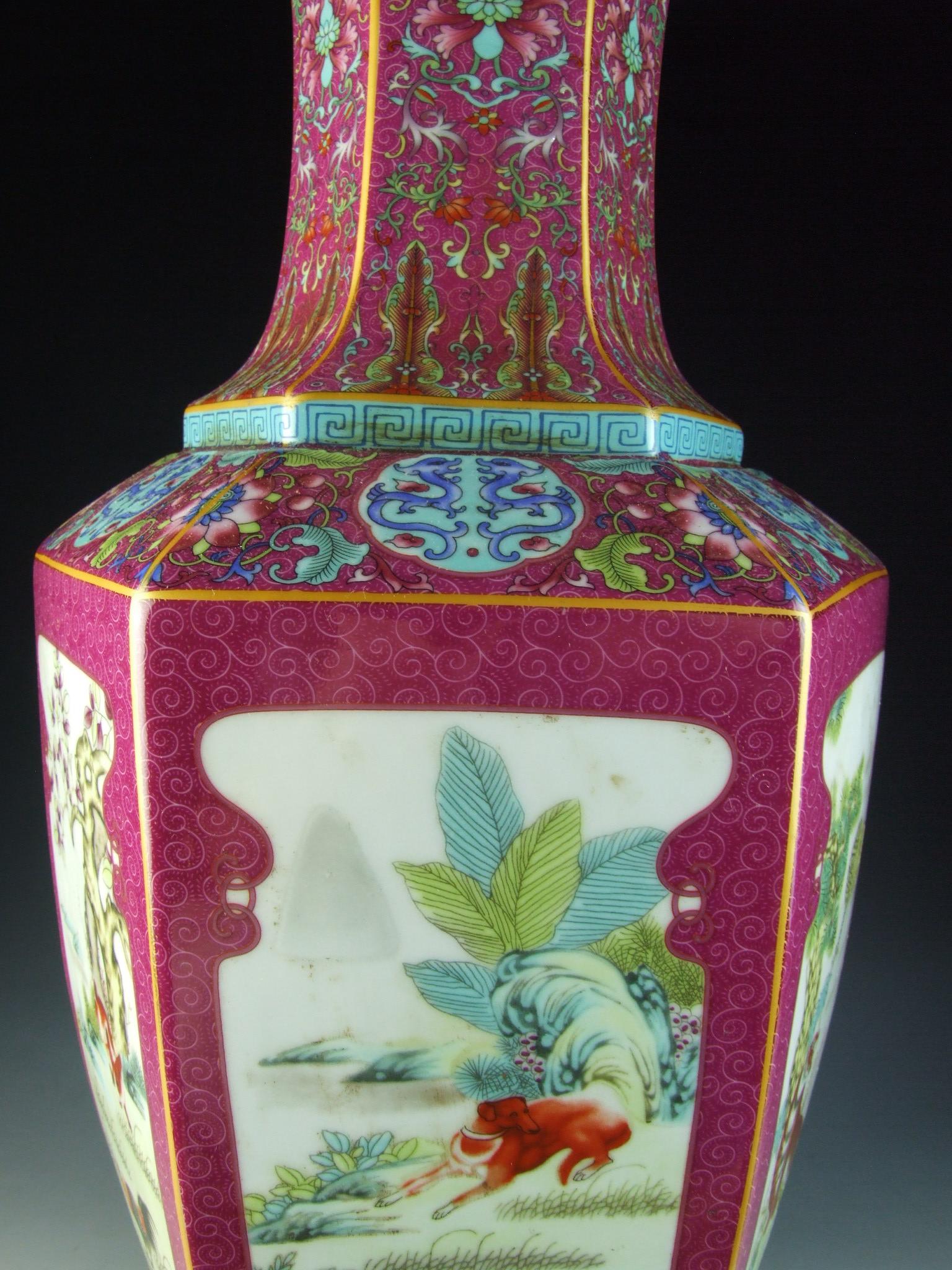 Chinese antique enamel ware color porcelain vase with 12 zodiac chinese antique enamel ware color porcelain vase with reviewsmspy