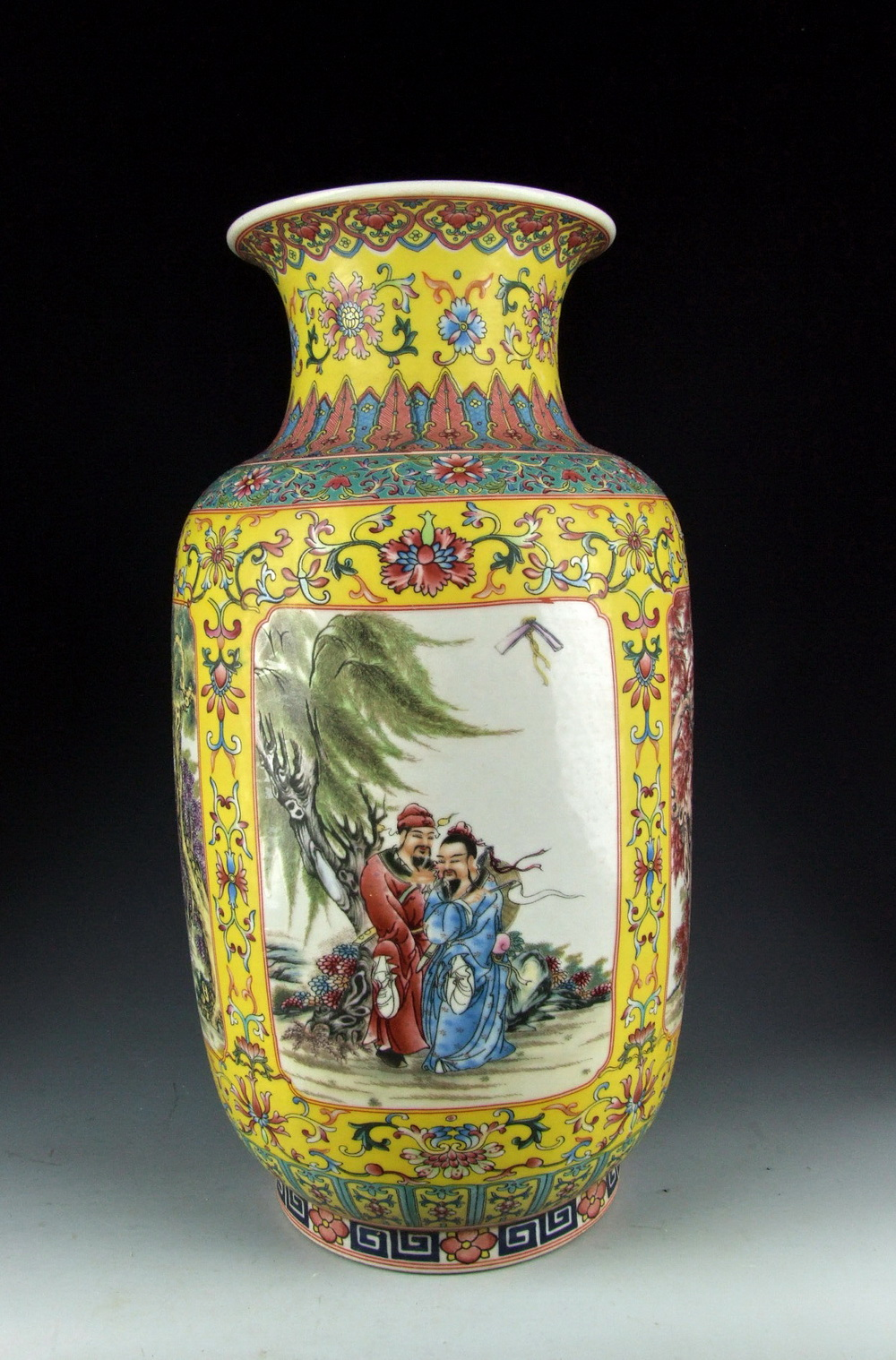 Chinese antique famille rose porcelain vase with chinese eight image is loading chinese antique famille rose porcelain vase with chinese reviewsmspy